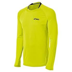 Asics Men's Fujitrail Long Sleeve Top, Electric Lime, Large