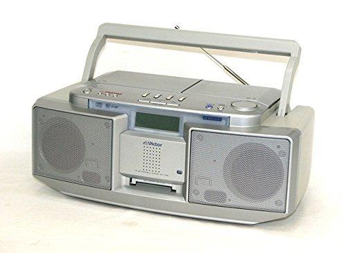 Victor ビクター JVC RC-T1MD-S シルバー CD-MDポータブルシステム Clavia クラビア (CD/MDデッキ)(ラジカセ形状)   B00N1N16VA
