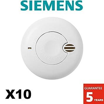 Siemens Rauchmelder 10er Pack Nf Autonomie 1 Jahr 5 Jahre