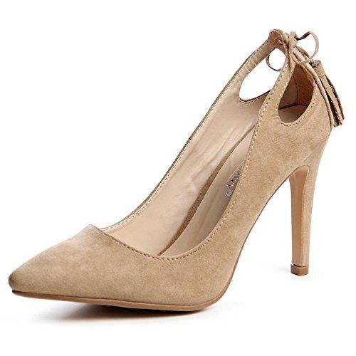 topschuhe24 - Zapatos de vestir para mujer Marrón - marrón claro