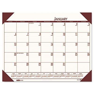 House of Doolittle EcoTONES Monthly Desk Pad Calendar, 4-Corner Holder, 2013, 22 x 17, Moonlight Cream by House of Doolittle (Calendar Ecotones Pad Monthly Desk)
