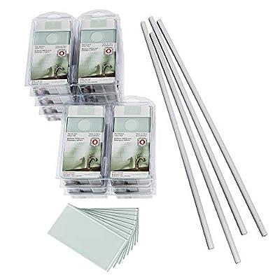 Aspect Peel and Stick Backsplash Kit Morning Dew Glass Tile for Kitchen and Bathrooms (15 sq ft Kit)