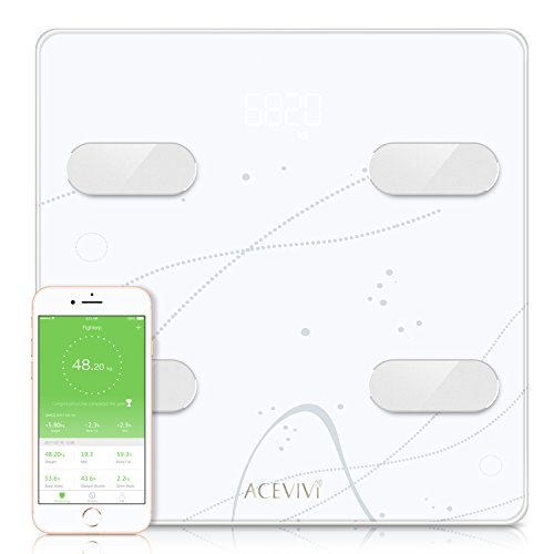 ACEVIVI Smart Body Fat Scale Bluetooth with Body Composition BMI, Wireless Digital Bathroom Weight Scale with 13 Essential Measurements by ACEVIVI