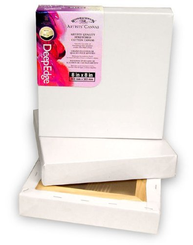 Artists' Quality Deep Edge Stretched Canvas-8x8