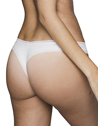 Cottone 03 Tanga White Panty moi Knicker Cotton Women's Lejaby 17462 Maison qOSwTIfn