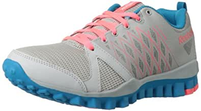 Reebok Women's Realflex Advance 2.0 Cross-Training Shoe,Steel/Flat Grey/Blue Bomb/Punch Pink,6 M US