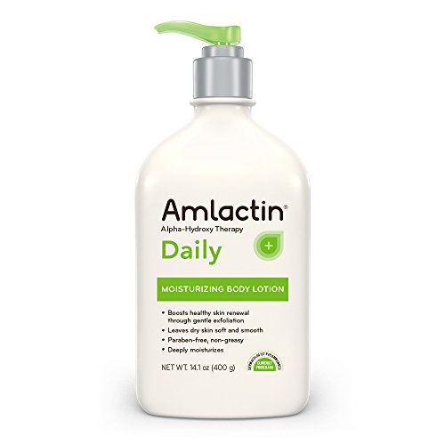 (AmLactin Daily Moisturizing Body Lotion , 14.1 Ounce Bottle with Pump, Paraben)