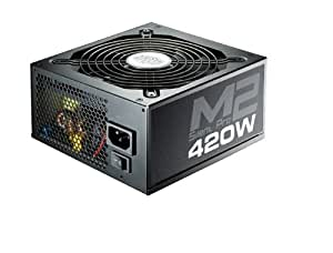 Cooler Master Silent Pro M2 420W 420W ATX Negro unidad de - Fuente de alimentación (420 W, 90 - 264 V, 47 - 63 Hz, 5 - 8, +12V,+3.3V,+5V,+5Vsb,12V, 0,9)