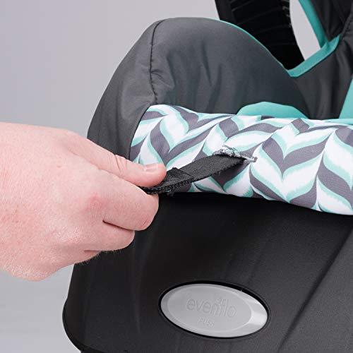 41a s6CuB8L - Evenflo Vive Travel System With Embrace Infant Car Seat, Spearmint Spree