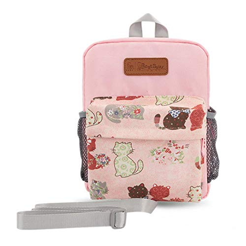 MOGOI Toddler Backpack with Leash, Removable Anti-Lost Safety Harness Chest Strap Travel Mini Backpack for Little Kid Boys Girls Cute Printed,06 ()