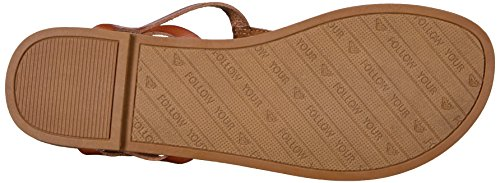 Brown Strappy Milet Sandal Women's Dress Roxy EfqwXx0gg
