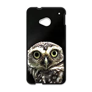 Owl in the Dark HTC One M7 Cell Phone Case Black DIY Present pjz003_6554403