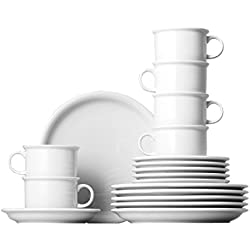 Thomas Trend Coffee Tableware Set, Crockery, Porcelain, White, Dishwasher Safe, 18-pcs., 18735