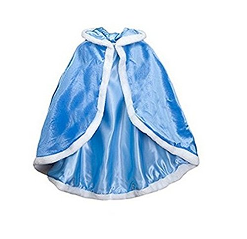Cleana Arts Girls Cape Christmas Princess Hooded Cape Cloak -