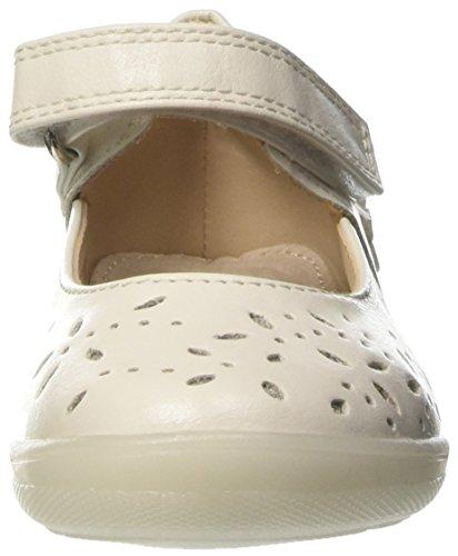 BATA 2211169 - Patucos de piel sintética para niña blanco Size: Bianco
