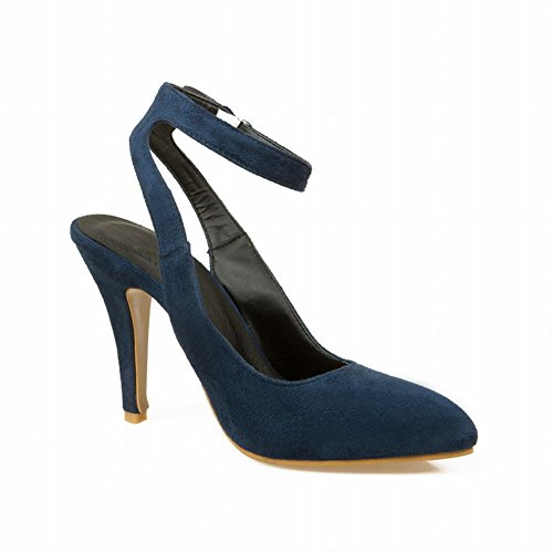 Charm Foot Nuova Primavera Estate Donna Tacco Alto Mary Jane Pumps Scarpe Blu Scuro