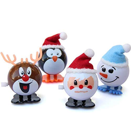 Gwill 4Pack/Set Dazzling Toys Wind-up Jumping Holiday Christmas Santa Party Favor Toys Gift 4Different Style(Santa Elk Snowman - Kitchen Set Lalaloopsy