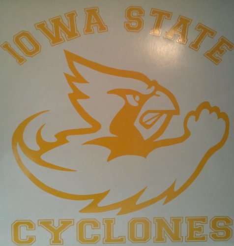 Iowa State Cyclones Yellow Cornhole Decals - 2 Cornhole Decals