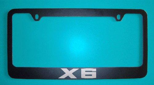 bmw-x6-black-license-plate-frame-zinc-metal