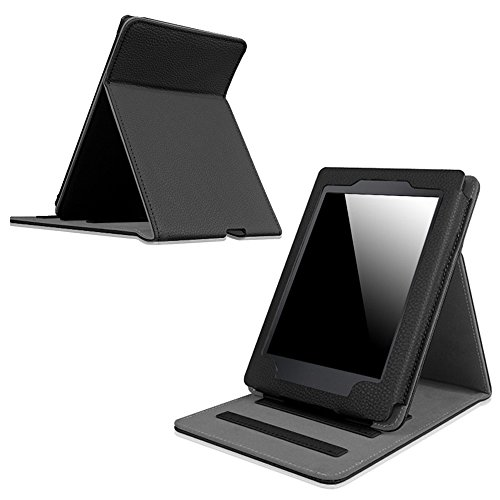 Fintie Flip Case for Kindle Paperwhite - Vertical Multi-Viewing PU Leather Cover Auto Sleep/Wake for All-New Amazon Kindle Paperwhite (Fits All versions: 2012 2013 2015 and 2016 New 300 PPI), Black
