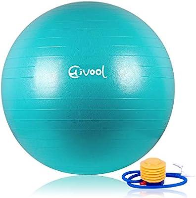 Hivool Pelota de Ejercicio para Fitness(55-85cm)syoga,bola natal y ...
