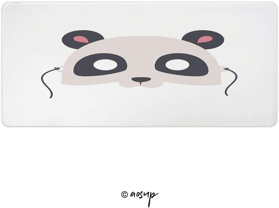 Homenon Professional Gaming Mouse Pad Cartoon Animals Party Vector Custom Design Stitched Edges Waterproof Non-Slip Rubber Base Mousepad 35.4 x 15.7 inch NO-68208