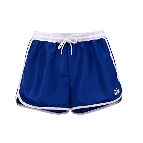 UV Skinz Womens Retro Board Shorts -Navy Blue-M