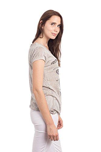 Abbino 16T57 Basics Camisetas Tops Camisas para Mujer - Hecho en ITALIA - 6 Colores - Entretiempo Primavera Verano Otoño Casual Chica Vintage Fiesta Elegantes Interiores Rebajas Manga Corta Grau Artikel 16T57-4