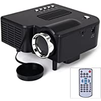 UC28+ 400 Lumens Home Mini LED Projector 320 x 240 Native Resolution 16:9 Aspect Ratio Supports HDMI/USB/VGA/IR/SD Card - US Plug
