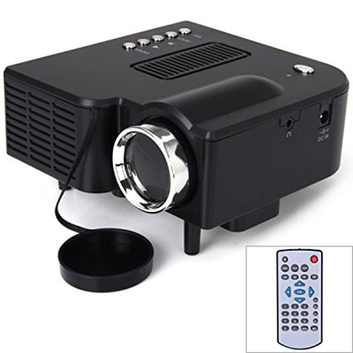 UC28+ 400 Lumens Home Mini LED Projector 320 x 240 Native Resolution 16:9 Aspect Ratio Supports HDMI/USB/VGA/IR/SD Card - US Plug by Unknown