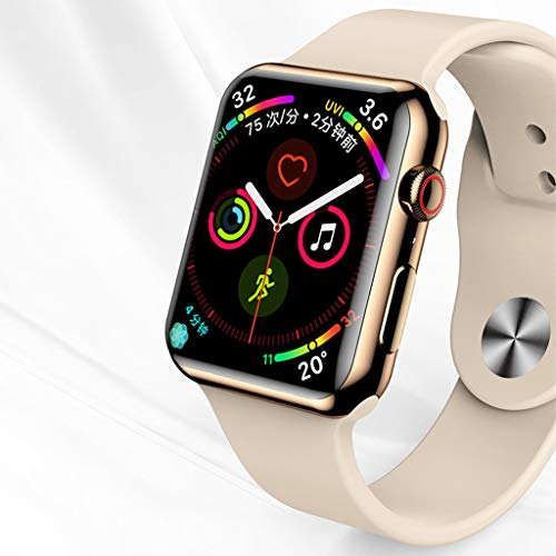 3D 9H Hardness Screen Protector Compatible Apple Watch Series 4 40\44mm, SHUDAGE Ultra-Slim Full Coverage Tempered Glass Screen Protective Case Watch Protector for iWatch Series 4 40\44mm (40mm) ()