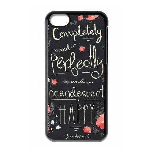 Austen Happy coque iPhone 5C Housse téléphone Noir de couverture de cas coque EBDOBCKCO13059