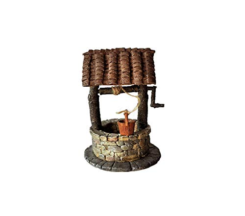 Country Wishing Well - Tоp Cоllеctiоn Outdoor Garden Backyard Décor Patio Premium Fairy Wishing Well with Turning Crank Statue Decorative Design