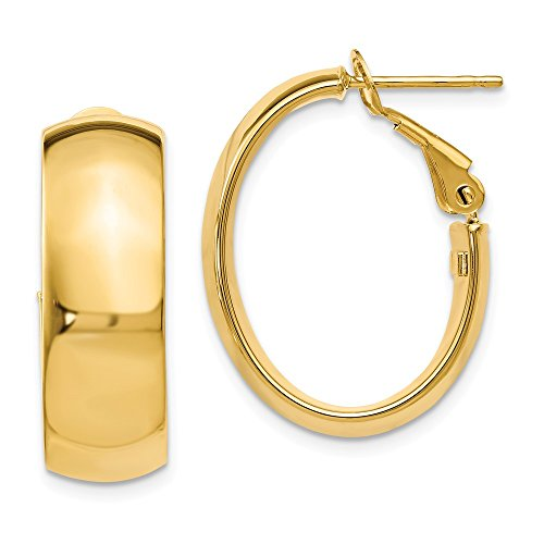 14k Yellow Gold Hoop Earrings Ear Hoops Set Fine Jewelry Gifts For Women For Her ()