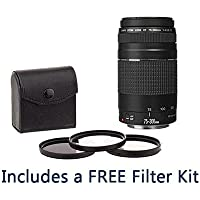 Canon EF 75-300mm F/4-5.6 III AF Telephoto Lens Bundle. USA. Value Kit #6473A003