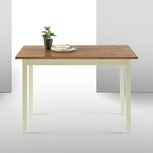 Zinus Becky Farmhouse Wood Dining Table / Table Only (Wood Table Small Dining)