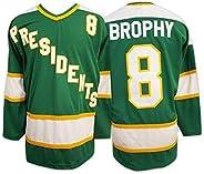 Slapshot Movie Ice Hockey Jersey #8 Brophy Embroidered Sweater