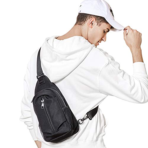 - CAMEL CROWN Sling Backpack Mini Small Sling Bag Chest Shoulder Crossbody Daypack for Men Anti Theft Casual