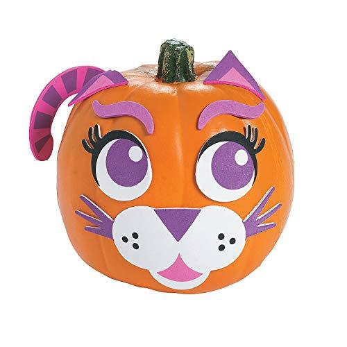 Fun Express - Purple Cat Pumpkin Decorating for Halloween - Craft Kits - Home Decor Craft Kits - 3 - D Tabletop - Halloween - 12 -