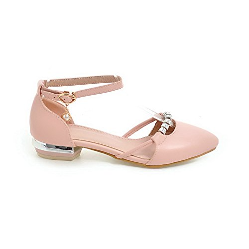 AdeeSu Womens Studded Travel Smooth Leather Urethane Sandals SLC03970 Pink wAcfyWO