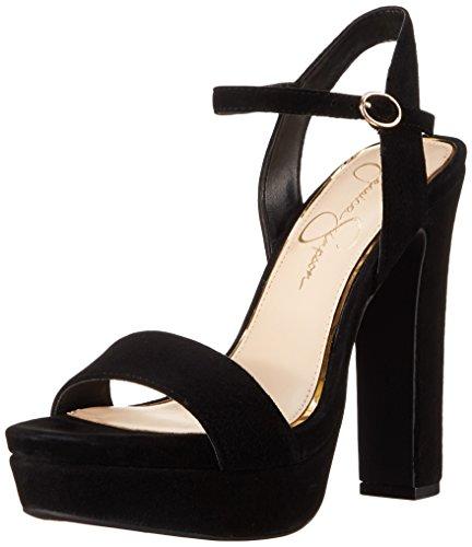 Jessica Simpson Women's Blaney Platform Dress Sandal, Black, 7.5 M US