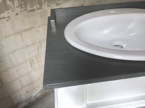 Doppelwaschtisch im Landhausstil Massivholz richhome Waschtisch wei/ß-grau Landhaus