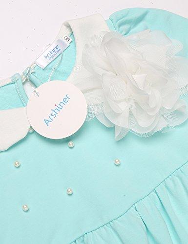 Arshiner Little Girls Long Sleeve Dress Skater Flower Beads Peter Pan Collar Dress by Arshiner (Image #4)