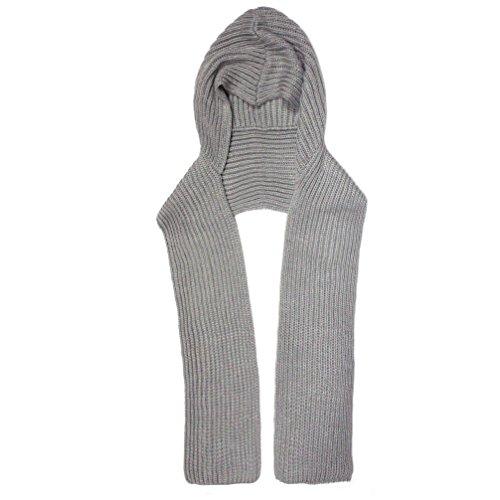 City Hunter H310 6 Ways to wear Hood Scarf Version 2 (Light - Women Hoods For