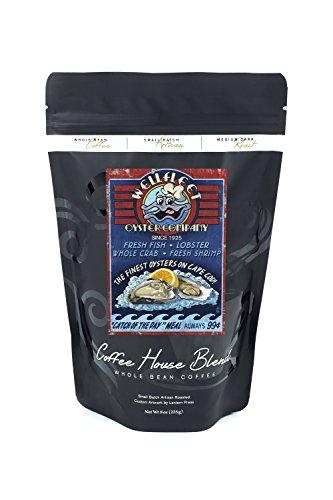 Cape Cod, Massachusetts - Wellfleet Oyster Company and Bar Vintage Sign (8oz Whole Bean Small Batch Artisan Coffee - Bold & Strong Medium Dark Roast w/ Artwork)