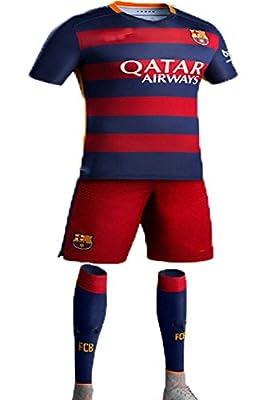 Caballero (TM) FC Kids 2015-2016 #10 Home Football Soccer Jersey Sportswear Polo Shirt & Short & Sock FOR 3-14 Years Kids