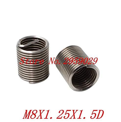 Ochoos 50pcs M81.251.5D m8 Wire Thread Insert Stainless Steel m8 Screw Bushing,Wire Screw Sleeve,Thread Repair