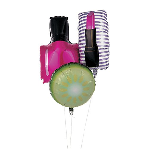 Fun Express - Spa Party Mylar Balloons for Birthday - Party Decor - Balloons - Mylar Balloons - Birthday - 3 ()