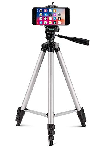 3110 Flexible Foldable Tripod for Camera, DSLR and Smartphones with Mobile Attachment,Tripod for Mobile Phone,Tripod Stand for Phone and Camera,Mobile Tripod Stand (White & Black)