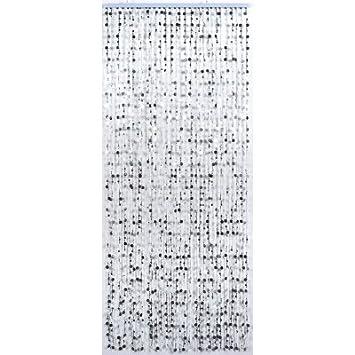 Rideau de porte perles plates - Couleur - Argenté: Amazon.fr ...
